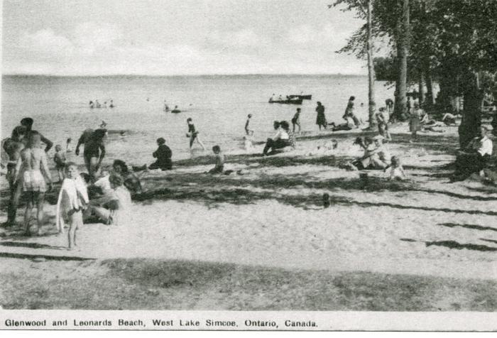 postcard of a beach scene