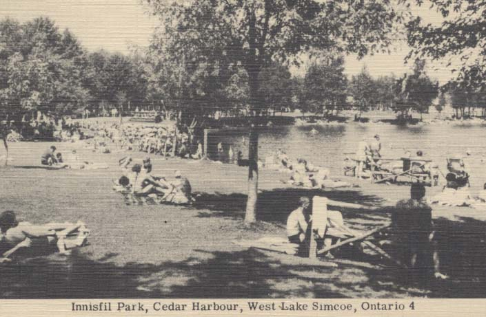 crowds of people at beach circa 1950