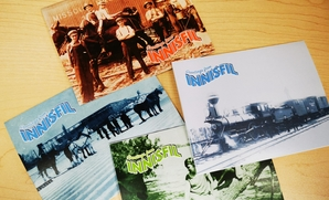 Image of four greeting cards featuring photos of historical Innisfil
