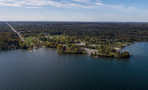 Aerial view of Innisfil on Lake Simcoe