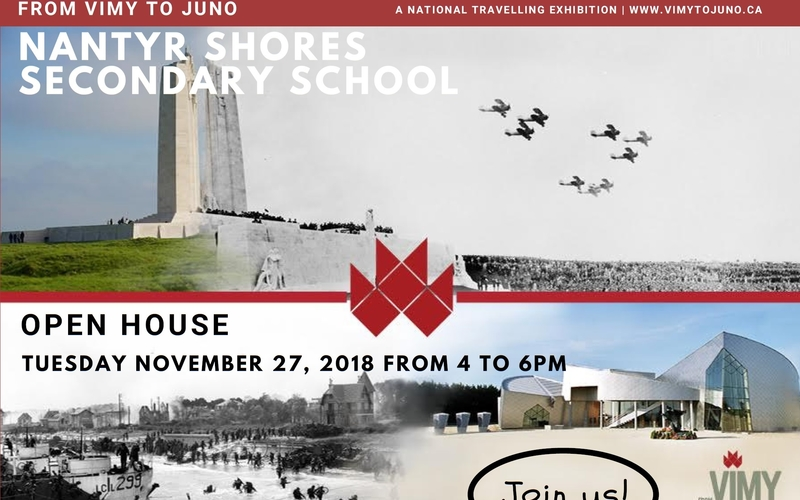 From Vimy to Juno: Travelling Exhibition at Nantyr Shores Secondary School